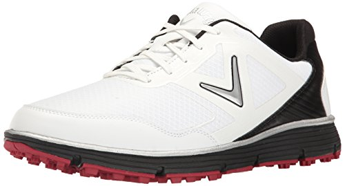 Callaway Men's Balboa Vent Golf Shoe, White/Black, 9 D US