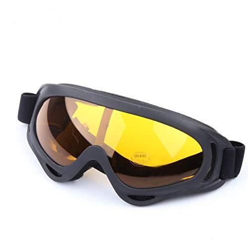 GAOYUE Gafas de esquí X400 UV Protección Sport Snowboard Skate Skiing Goggles, Negro Naranja