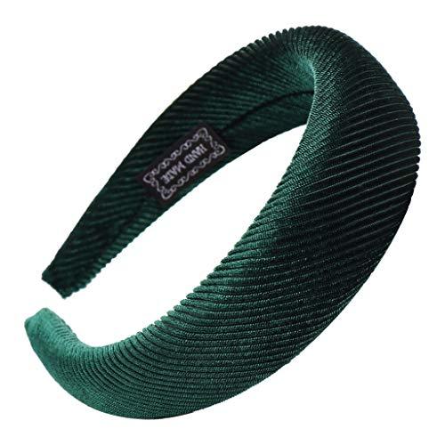 YWLINK Mode Samt Sport Haarband Volltonfarbe Damen Haar Kopfband Einfache SüßE MäDchen Stirnband(B Grün,)