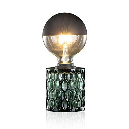 Pauleen Crystal Magic Tischleuchte max. 20W Tischlampe für E27 Lampen Nachttischlampe Grün 230V Glas ohne Leuchtmittel 48023