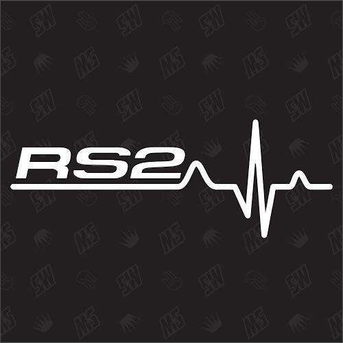 speedwerk-motorwear RS2 Herzschlag - Sticker für Audi