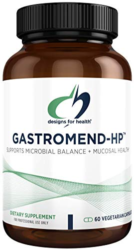 Designs for Health GastroMend HP - Gut Mucosa + Microbial Balance Support Supplement with Mastic Gum, DGL Licorice + 'Vitamin U' - May Help Occasional Bloating or Upset Stomach (60 Capsules)