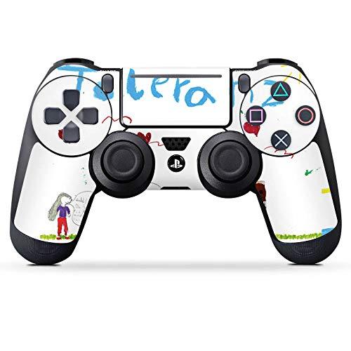 DeinDesign Skin kompatibel mit Sony Playstation 4 Pro PS4 Controller Aufkleber Folie Sticker Kinder Zeichnung Fina