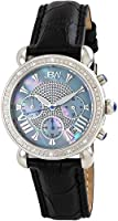Jbw Victory Women'S 16 Diamonds Mother Of Pearl Dial Leather Band Chronograph Watch - Jb-6210L-C,