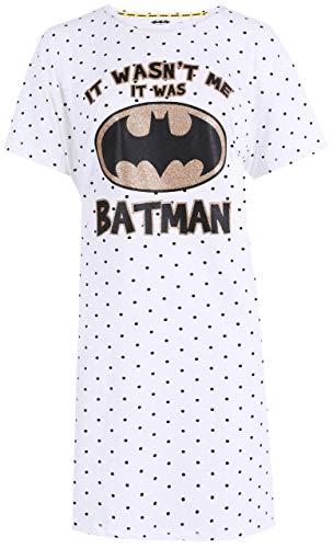 Batman -:- DC COMICS Cremiges Nachthemd mit Tupfen L