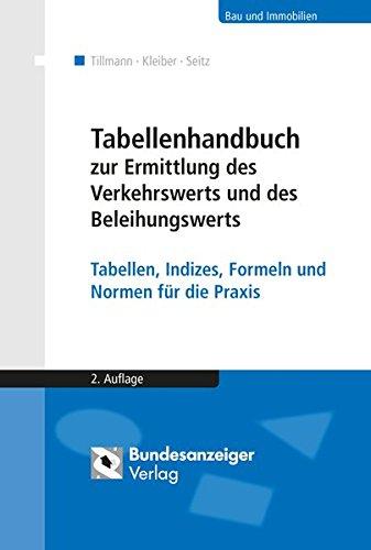 Tabellenhandbuch zur Ermittlung des Verkehrswerts und des Beleihungswerts von Grundstücken: Tabellen, Indizes, Formeln und Normen für die Praxis