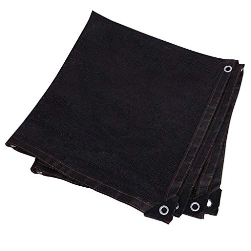 QIURUIXIANG - Rollo de tela para sombra de sombra, color negro UV 95% tela de malla para el techo, terraza, exterior, patio, plantas, invernadero, granero, negro (tamaño: 33 x 33 pies) QI-224