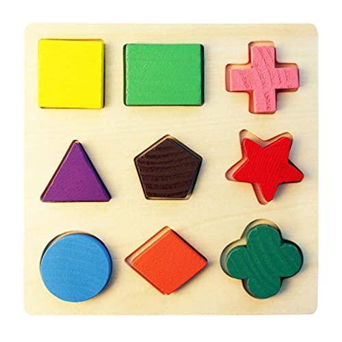 Madera Formas Geométricas Puzzle Clasificación Matemáticas Ladrillos Preescolar Aprendizaje Juego Educativo Juguetes para Niños