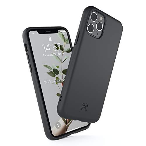 Woodcessories - Bio Case kompatibel mit iPhone 11 - Nachhaltig, biologisch abbaubar - BioCase Schwarz