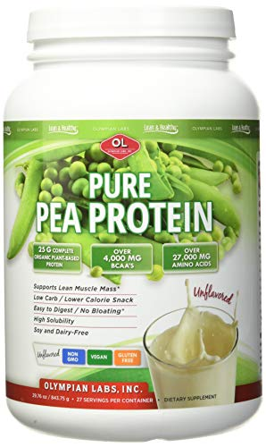 Olympian Labs Pure Pea Protein Powder | 2 pounds, 27 Servings | Vegan, Vegetarian, Easy to Digest - Speeds Muscle Recovery