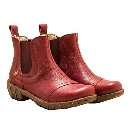 El Naturalista Damen Ankle Boots Yggdrasil, Frauen Stiefeletten,lose Einlage,flach,Women's,Woman,Lady,Ladies,Boots,Stiefel,Rot (Cereza),39 EU / 6 UK