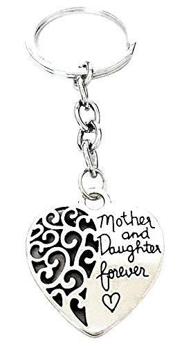 Porte-clés Coeur - mère et Fille pour Toujours - mère et Fille pour Toujours - idée Cadeau pour Homme et Femme