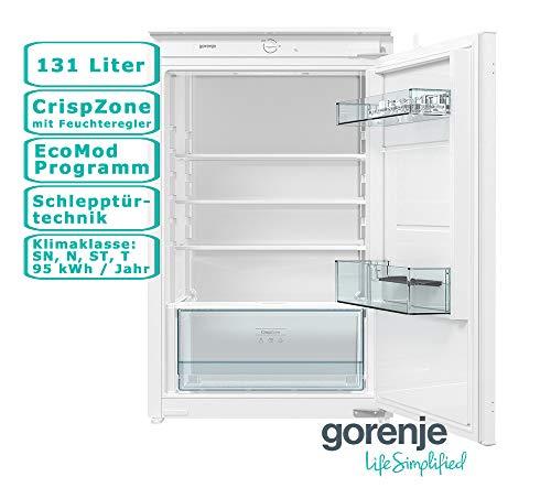 Gorenje Einbaukühlschrank Vollraum 131L Schlepptür Eco Mode CrispZone 88er Niesche LED Innenraumbeleuchtung MultiAdjust Ablagen