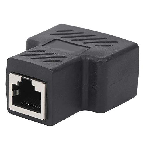 5 st nätverkssplitter anslutningar adapter RJ45 1-i-2 tre-vägs adapter trådförlängare svart industriella element nätverksuttag skarvkontakt