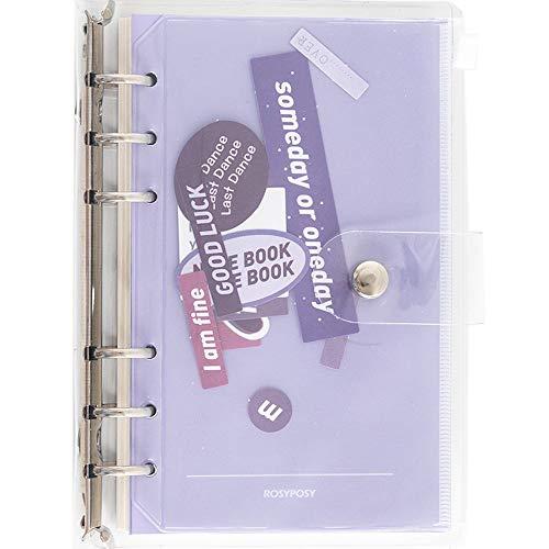 ZEL Cuaderno extraíble, Libro de Cuentas Manual, refrescante Sistema de Colores INS, diseño de Hojas Sueltas