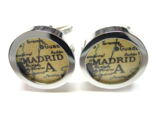 Madrid Map Cufflinks