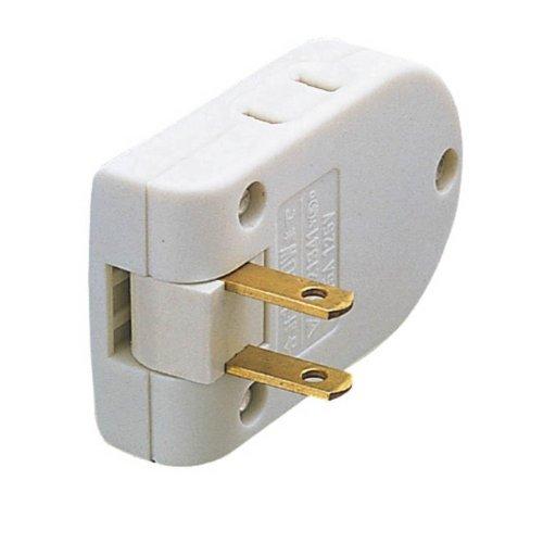 エレコム 電源タップ 雷サージ対応 2個口 KT-180