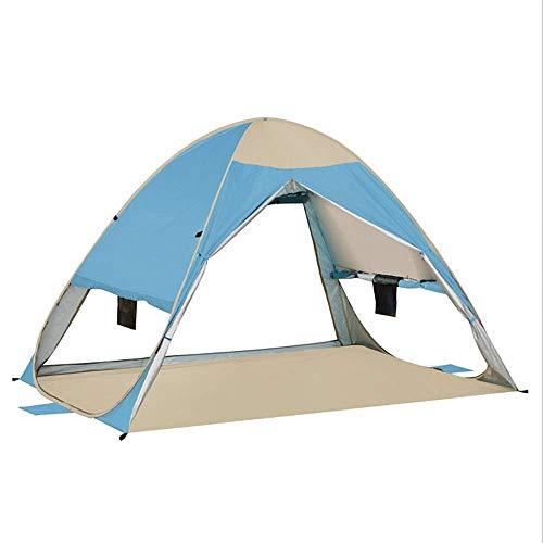 LHQ-HQ Carpa Familiar al Aire Libre de protección Solar portátil Transpirable UV Protección 2-3 Personas Tienda de campaña Pesca Senderismo Picnic al Aire Libre Azul Carpa (Color : Blue)