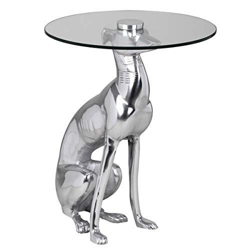 Wohnling Design Deko Tavolino Basso, Metallo, Argento, 40 x 40 x 50 cm