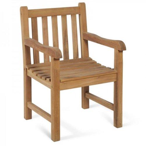 Fauteuil massif-chaise de jardin en teck de qualité supérieure