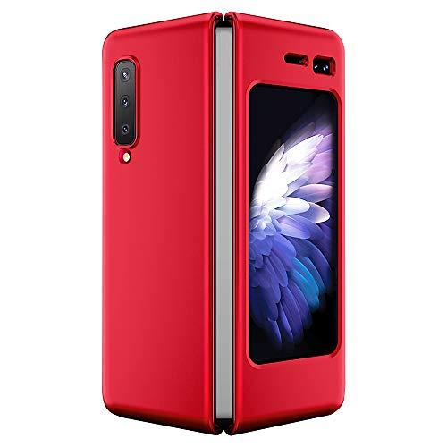 SHIEID Funda para Samsung Galaxy Fold Fundas, Ultra Slim Anti-Rasguño y Resistente Huellas Dactilares Totalmente Protectora Caso de Plástico Duro Cover Case para Samsung Galaxy Fold-Rojo