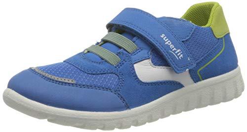 Superfit SPORT7 Mini Sneaker Lauflernschuh, BLAU/GRAU, 28 EU