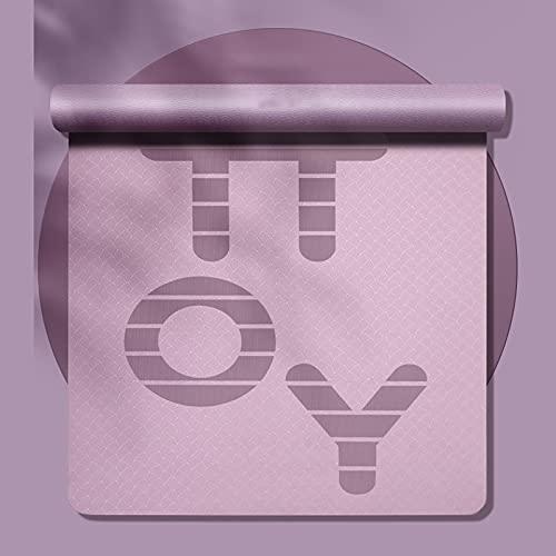 Große Yogamatte, Dicke rutschfeste, umweltfreundliche Trainingsmatte Trainingsmatte für Pilates Yoga Stretching Gymnastics Home Gym (Color : Purple, Size : 190 * 130cm*0.8cm)