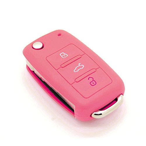Funda de llave de silicona para Volkswagen Polo, Passat, Golf, 3 botones