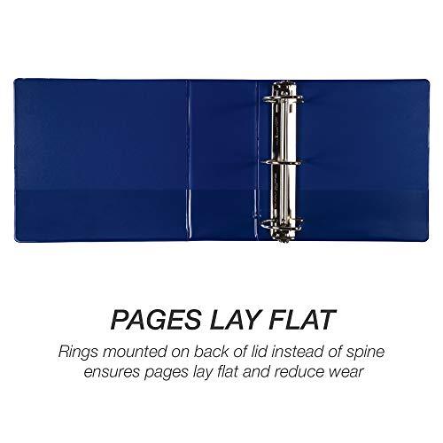 Samsill Durable 5 Inch Binder Blue D-Ring Binder/Customizable Clear View Binder/Bulk Binder 2 Pack/Blue 3 Ring Binder 5 inch Photo #4