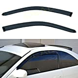 DEAL AUTO ELECTRIC PARTS 2-Piece Set Front Door Smoke Vent Window Visor, Side Window Deflector with Outside Mount Tape-On Type, Custom Compatible with for 2001-2005 Civic 2-Door Coupe