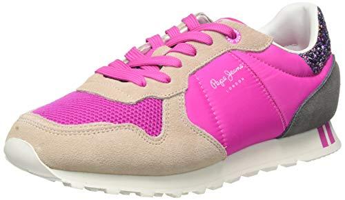Pepe Jeans Verona W Smile, Scarpe da Ginnastica Donna, Pink Capsicum 359, 39 EU