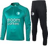 Movement Feyenoord Entrenamiento de fútbol Hombres Traje de Jersey de Fútbol Atletico Feyenoord Top de Manga Larga + Pantalones Set de 2(Size:/SG,Color:G1)