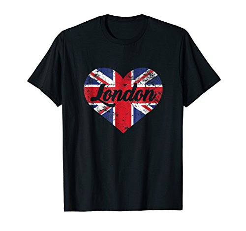I Love London Shirt, Cute UK British Heart Gift