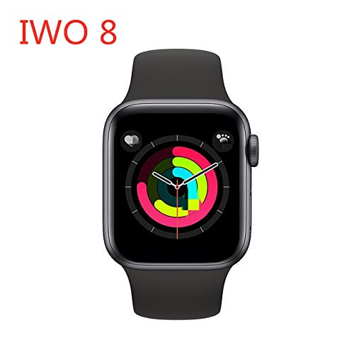 Gongyi 2020 IWO 12 PRO Series 5 Smart Guarda 44MM Smartwatch Bluetooth IP68 Impermeabile Orologio Sportivo for iOS Android PK IWO 8 13 10 Max 13 (Color : Black, Size : with Gift Box)