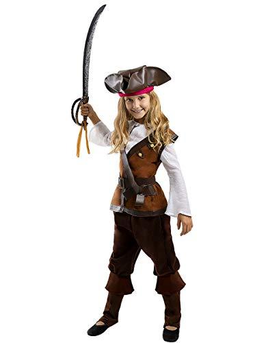 Funidelia | Disfraz de Pirata - Colección Caribe para niña Talla 3-4 años ▶ Corsario, Bucanero - Multicolor