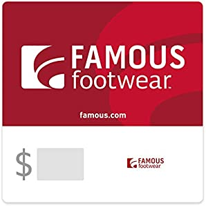 Save $10.50 with code FAMOUS off purchases of $50 or more of Famous Footwear email gift cards