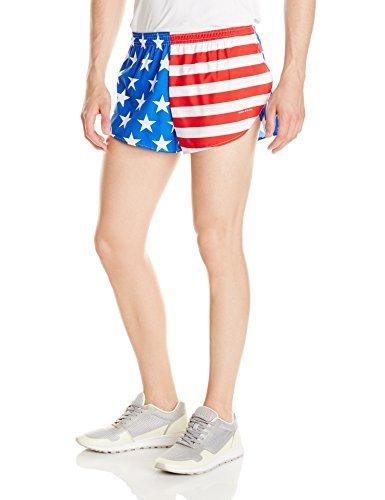 BOA 1' Elite Split Leg Print Run Short (Large, US Flag)
