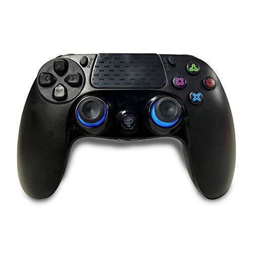 VAWA Manette de jeu sans fil – Double chargeur rapide avec affichage LED et poignée à 360° pour manette de jeu PS4 Slim / PS 4 Pro / PC