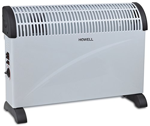 Howell TMV2005 Termoconvettore Ventilato, Bianco/Grigio, 62.5x44x14 cm