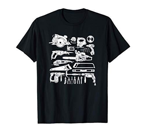Carpenter Mechanic Hand Power Tool Saw Handyman Gift Men Dad T-Shirt