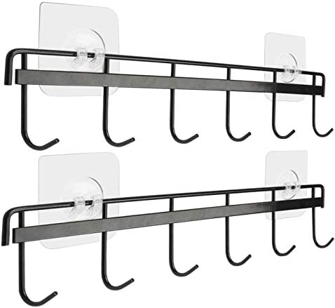 Yizhi Adhesive Wall Hooks Rack Kitchen Rail Space Saving Wall Hanger No Drilling Wall Mounted product image
