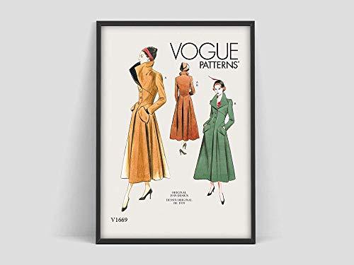 Póster de portada vintage,póster,portada de revista,póster de moda,moda,Art Nouveau,Art Deco,cuadro decorativo sin marco familiar Z19 70x100cm