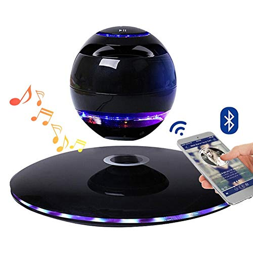 LASERIPLF Levitating Bluetooth Speaker Levitating Death Star Speakers, Magnetic Floating Wireless Speaker Bluetooth 4.0 with Led Flash 360 Degree Rotation Portable Bluetooth Speakers