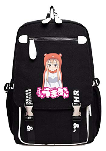 WANHONGYUE Himouto! Umaru-chan Anime Rucksack Zaino per PC Portatile Borsa da Scuola Laptop Backpack -1