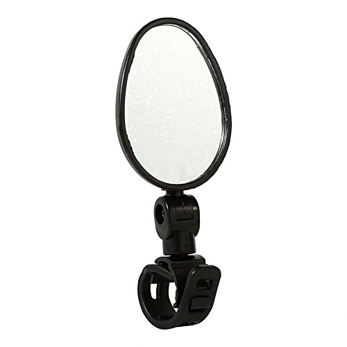 214 Bike Mirror, 360 Degree Rotatable Adjustable Bike Safety Rearview Durable Rear View Cycling Mirror Universal for Mountain Bicycle