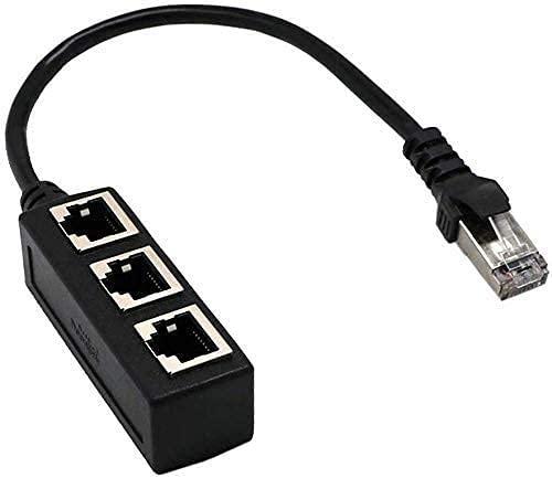RJ45 Ethernet Splitter Cable, Minriu RJ45 Y Splitter Adapter 1 to 3...