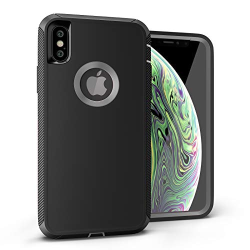 iPhone Xs Case, Viero Defender iPhone X Case Heavy Duty Rugged Impact Resistant Full Protective Armor Military Protection Belt Clip Holster Kickstand Protector Case Cover for iPhone 10- Black/Gray -  ipx-def-blk-gry