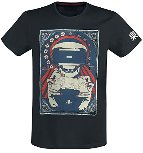 Playstation T Shirt Vr Skull Live In Your World Logo 新しい 公式 メンズ Size M