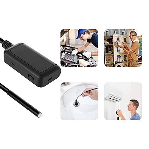 DealMux Endoscopio 5,5 mm 5MP WiFi Borescope 1920P HD Snake Camera per Ios Android Motor Motor Sewer Pipe Telecamera di ispezione del veicolo (Colore: Duro, Dimensioni: 2m)