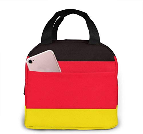 German Flag Lunch Bag Insulated Lunch Bag for Women Multi-Functional Lunch Tote Bags with Shoulder Strap Reusable Thermal Cooler Bag Lunch Container Work Picnic
